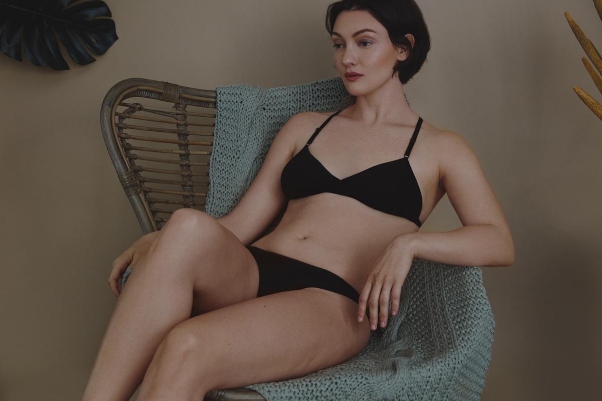 Ethical Lingerie Editorial Photography: Christine Polz Hair&Make-up: Tanja Schuster Model: Avianna McKee (@Java Models) Set: Mirjam Baak
