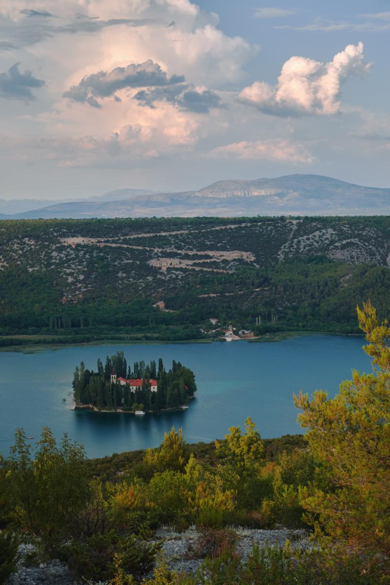 Kroatien Visovac Aussichtspunkt Krka Nationalpark